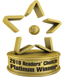 Platinum Winner - 2010 Readers Choice